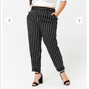 Forever 21 Plus Striped Trousers